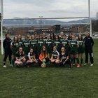 Glenvar Highlanders Girls Varsity Soccer Spring 17-18 team photo.
