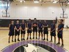 Rancho Dominguez Lobos Boys Varsity Basketball Winter 18-19 team photo.