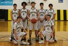 Clallam Bay Bruins Boys Varsity Basketball Winter 18-19 team photo.