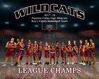 Paloma Valley Wildcats Boys Varsity Basketball Winter 18-19 team photo.