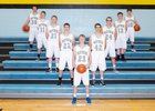 Arvada-Clearmont Panthers Boys Varsity Basketball Winter 18-19 team photo.