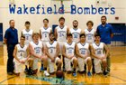 Wakefield Bombers Boys Varsity Basketball Winter 18-19 team photo.
