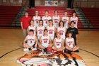 Lead Hill Tigers Boys Varsity Basketball Winter 18-19 team photo.