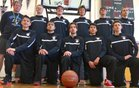 Mendocino Cardinals Boys Varsity Basketball Winter 18-19 team photo.