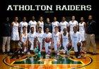 Atholton Raiders Boys Varsity Basketball Winter 18-19 team photo.