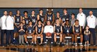 Mullen Mustangs Boys Varsity Basketball Winter 18-19 team photo.