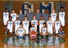 Mt. Rainier Rams Boys Varsity Basketball Winter 18-19 team photo.