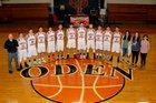 Oden Timberwolves Boys Varsity Basketball Winter 18-19 team photo.