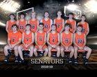 Portsmouth West Senators Boys Varsity Basketball Winter 18-19 team photo.