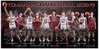 Marysville-Pilchuck Tomahawks Boys Varsity Basketball Winter 18-19 team photo.