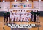 Overlake Owls Boys Varsity Basketball Winter 18-19 team photo.