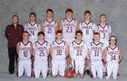 Ellicottville/West Valley Central Eagles Boys Varsity Basketball Winter 18-19 team photo.