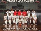 Cheraw Braves Boys Varsity Basketball Winter 18-19 team photo.