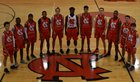 Newton-Conover Red Devils Boys Varsity Basketball Winter 18-19 team photo.