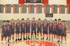 Rawlins Outlaws Boys Varsity Basketball Winter 18-19 team photo.