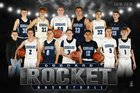 Goddard Rockets Boys Varsity Basketball Winter 18-19 team photo.
