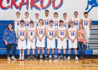 Kaycee Buckaroos Boys Varsity Basketball Winter 18-19 team photo.
