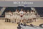 Maumelle Charter Falcons Boys Varsity Basketball Winter 18-19 team photo.