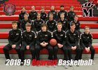 Mena Bearcats/Ladycats Boys Varsity Basketball Winter 18-19 team photo.