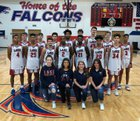 Clear Lake Falcons Boys Varsity Basketball Winter 18-19 team photo.