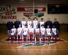 Jamestown Red Raiders Boys Varsity Basketball Winter 18-19 team photo.