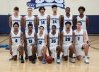 Coral Springs Charter Panthers Boys Varsity Basketball Winter 18-19 team photo.