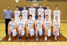 Catalina Foothills Falcons Boys Varsity Basketball Winter 18-19 team photo.