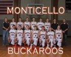 Monticello Buckaroos Boys Varsity Basketball Winter 18-19 team photo.