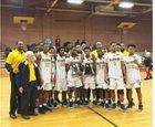 Goldsboro Cougars Boys Varsity Basketball Winter 18-19 team photo.