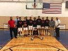 Emerson Vo-Tech Eagles Boys Varsity Basketball Winter 18-19 team photo.