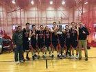 Loudoun County HomeSchool Patriots Boys Varsity Basketball Winter 18-19 team photo.