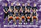 Mountain View Buffaloes Boys Varsity Basketball Winter 18-19 team photo.