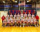 Evanston Devils Boys Varsity Basketball Winter 18-19 team photo.