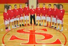 Saranac Lake Red Storm Boys Varsity Basketball Winter 18-19 team photo.