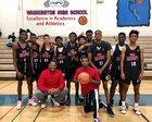 Fremont Pathfinders Boys Varsity Basketball Winter 18-19 team photo.