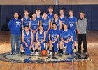 East Mountain Timberwolves Boys Varsity Basketball Winter 18-19 team photo.