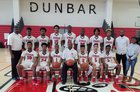 Dunbar Crimson Tide Boys Varsity Basketball Winter 18-19 team photo.