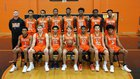 Oakland Mills Scorpions Boys Varsity Basketball Winter 18-19 team photo.
