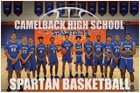 Camelback Spartans Boys Varsity Basketball Winter 18-19 team photo.