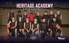 Heritage Academy Heroes Boys Varsity Basketball Winter 18-19 team photo.