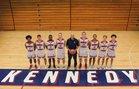 Kennedy Catholic Lancers Boys Varsity Basketball Winter 18-19 team photo.