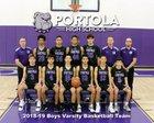 Portola Bulldogs Boys Varsity Basketball Winter 18-19 team photo.