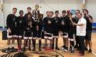 Oasis Christian Lions Boys Varsity Basketball Winter 18-19 team photo.