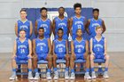 Blue Mountain Cougars Boys Varsity Basketball Winter 18-19 team photo.