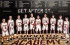 Crowley's Ridge Academy Falcons Boys Varsity Basketball Winter 18-19 team photo.