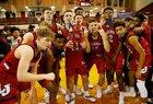 Lafayette Jefferson Bronchos Boys Varsity Basketball Winter 18-19 team photo.
