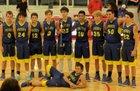 Priddy Pirates Boys Varsity Basketball Winter 18-19 team photo.