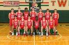 The Woodlands Highlanders Boys Varsity Basketball Winter 18-19 team photo.