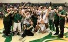 Lakewood Ranch Mustangs Boys Varsity Basketball Winter 18-19 team photo.