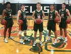 East Lincoln Mustangs Boys Varsity Basketball Winter 18-19 team photo.